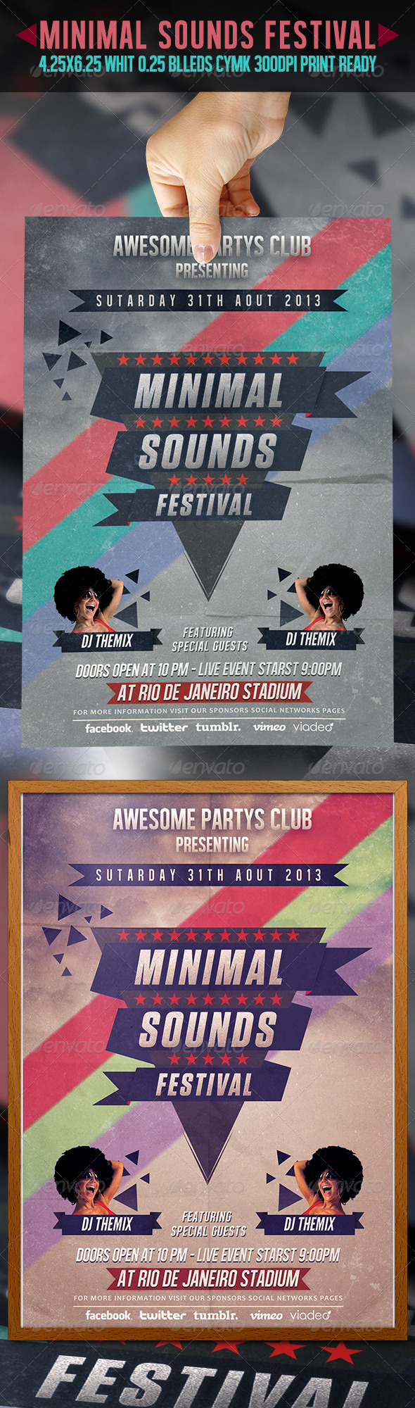 GraphicRiver Minimal Sounds Festival Flyer 5117259