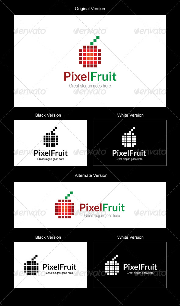 GraphicRiver Pixel Fruit Logo Design 5117333