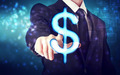 Businessman pointing Dollar icon - PhotoDune Item for Sale
