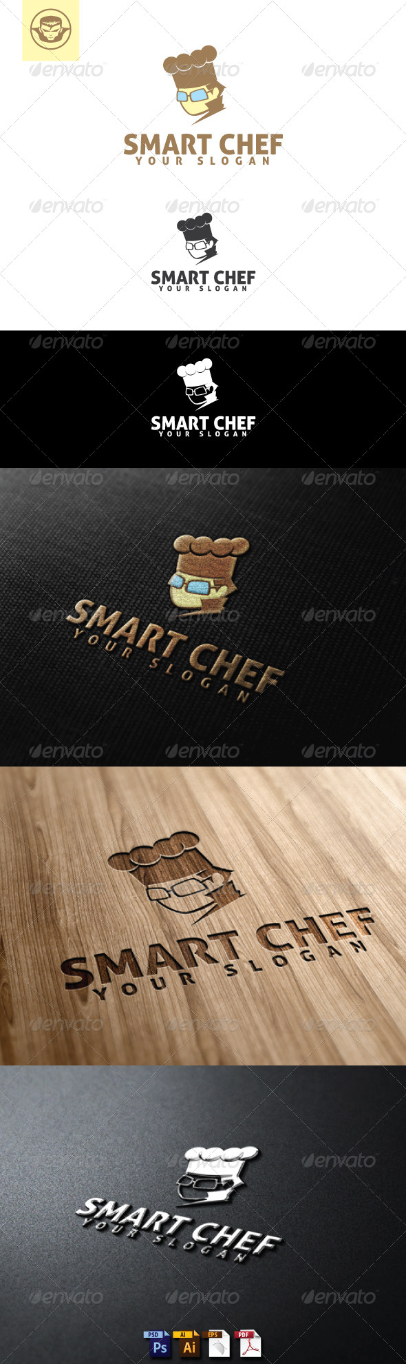 GraphicRiver Smart Chef Logo Template 5119557