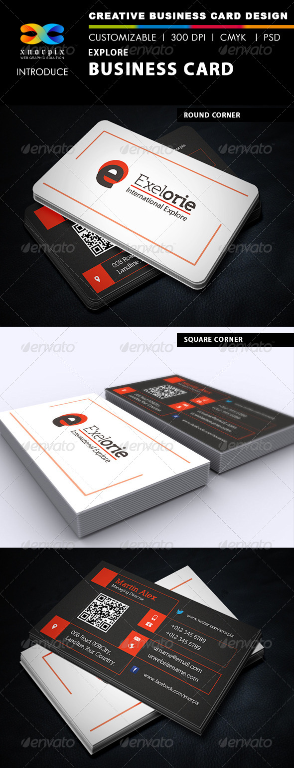 GraphicRiver Explore Business Card 5120155