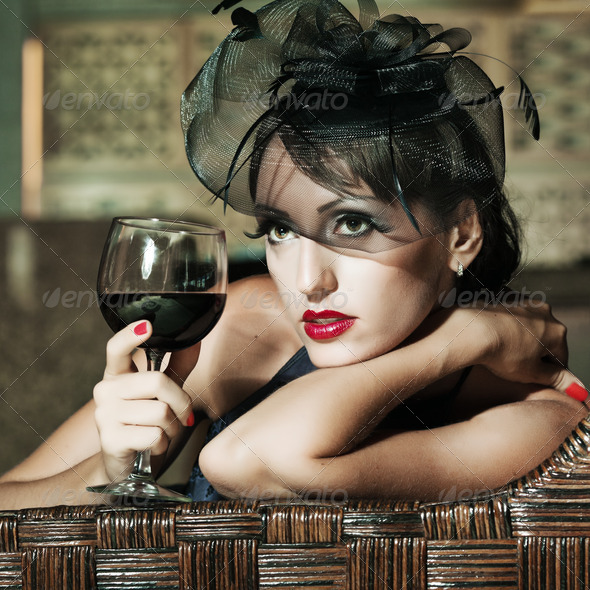 Retro woman - Stock Photo - Images