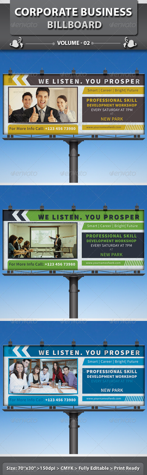 Corporate Business Billboard | Volume 2 - Signage Print Templates