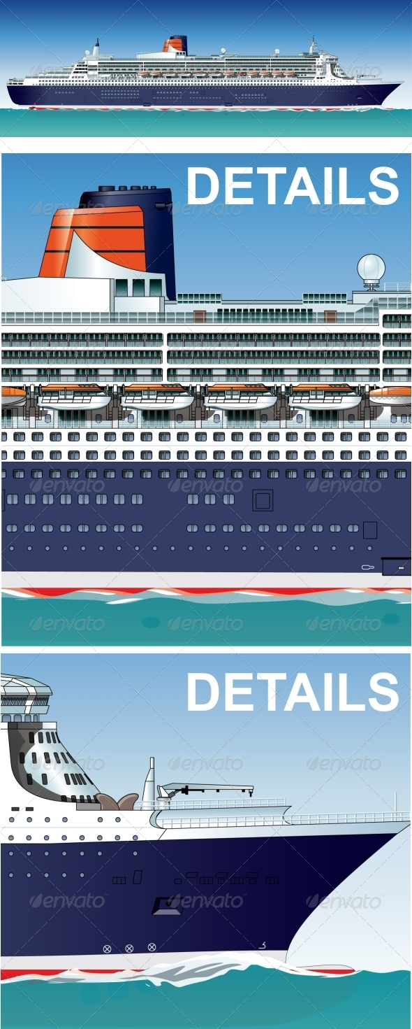 GraphicRiver Vector Hi-Detailed Cruise Ship 5105871