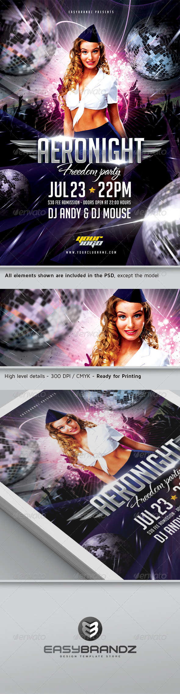 GraphicRiver Aeronight Flyer Template 5121695