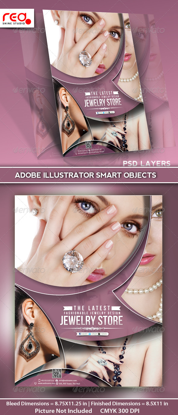 GraphicRiver Jewelry Store Flyer Poster Magazine Template 5122082