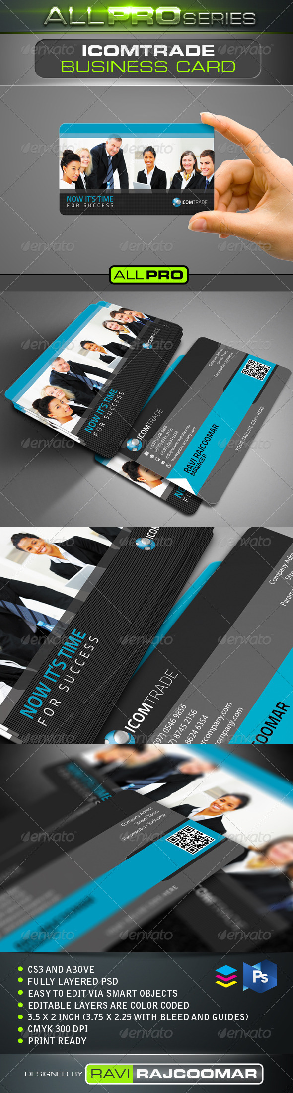 Icomtrade Business Card - Business Cards Print Templates