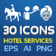 30 Icon Vector for Hotel Services - GraphicRiver Item for Sale