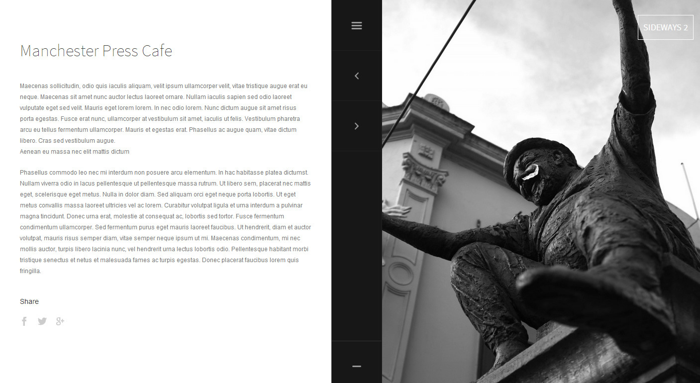 Sideways 2 - Portfolio & Blog WordPress Theme