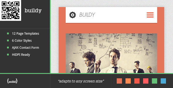 ThemeForest buildy Mobile HTML Css Portfolio Template 5123894