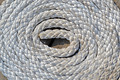 White Sea Cord On Wooden Surface, Round Bulk - PhotoDune Item for Sale