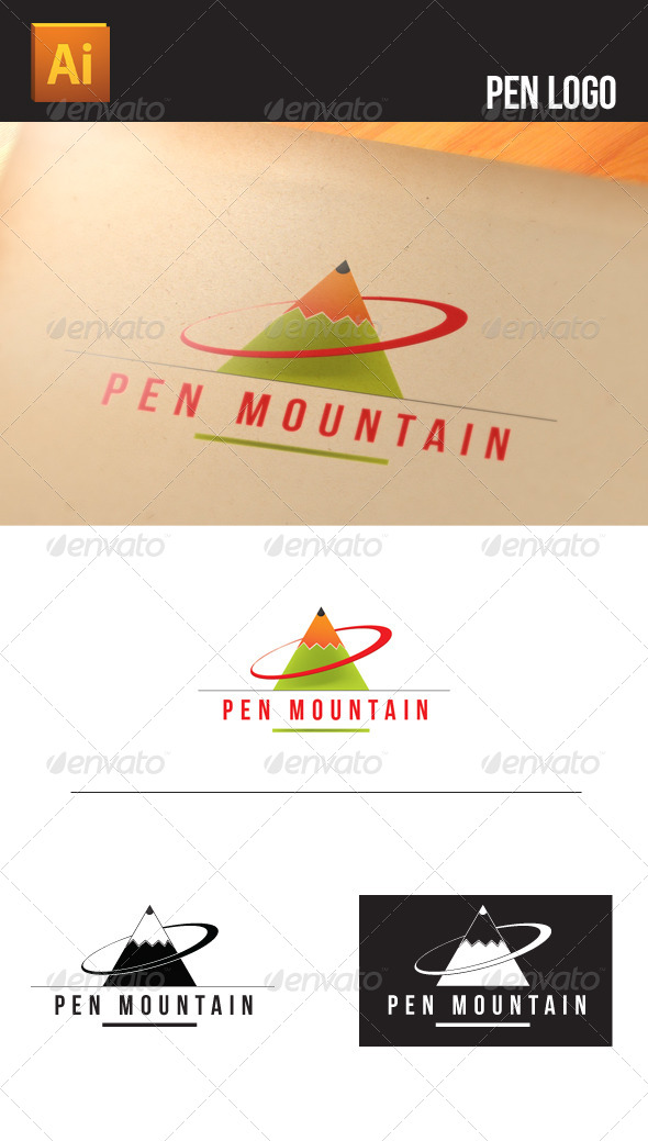 GraphicRiver Pen Logo 5011951