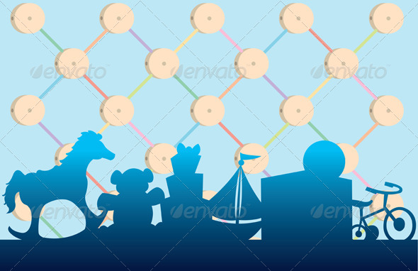 GraphicRiver Classic Toy Background 5125722