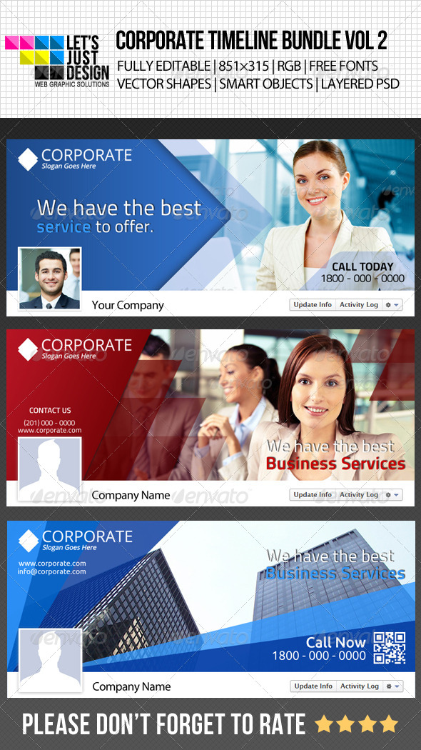 GraphicRiver Corporate Facebook Timeline Cover Bundle Vol 2 5125723