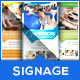 Pure Fitness - Go Gym - Roll-Up Banner Template - GraphicRiver Item for Sale