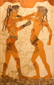 Greek fresco of two children boxing - PhotoDune Item for Sale