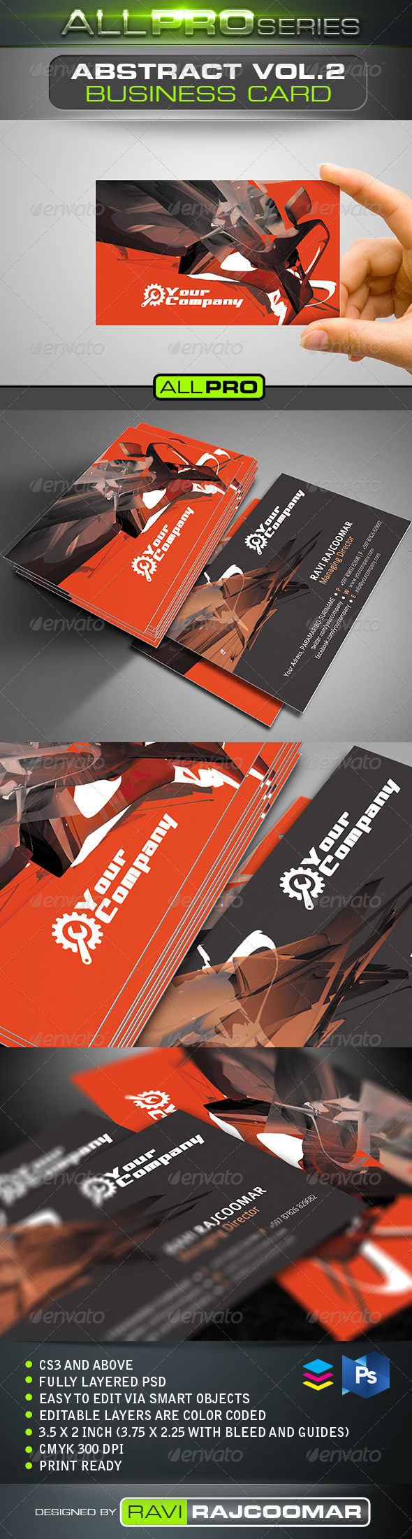 GraphicRiver Abstract Business Card Vol.2 5128716