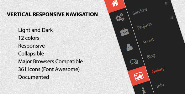CodeCanyon Vertical Responsive Navigation 5128779