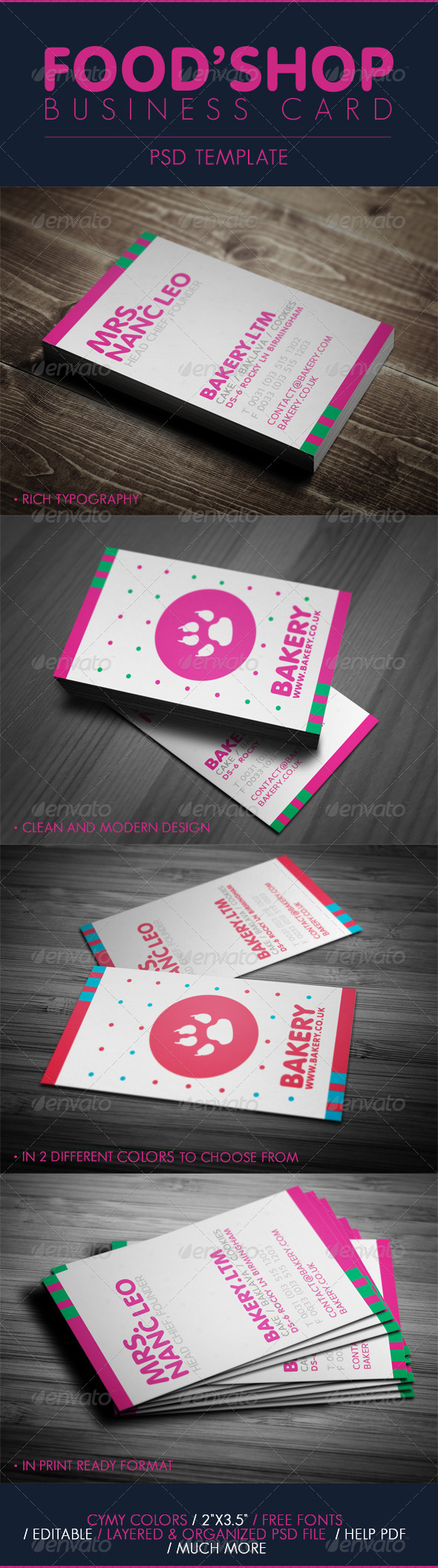 GraphicRiver Business Card For Food Shop 5128904