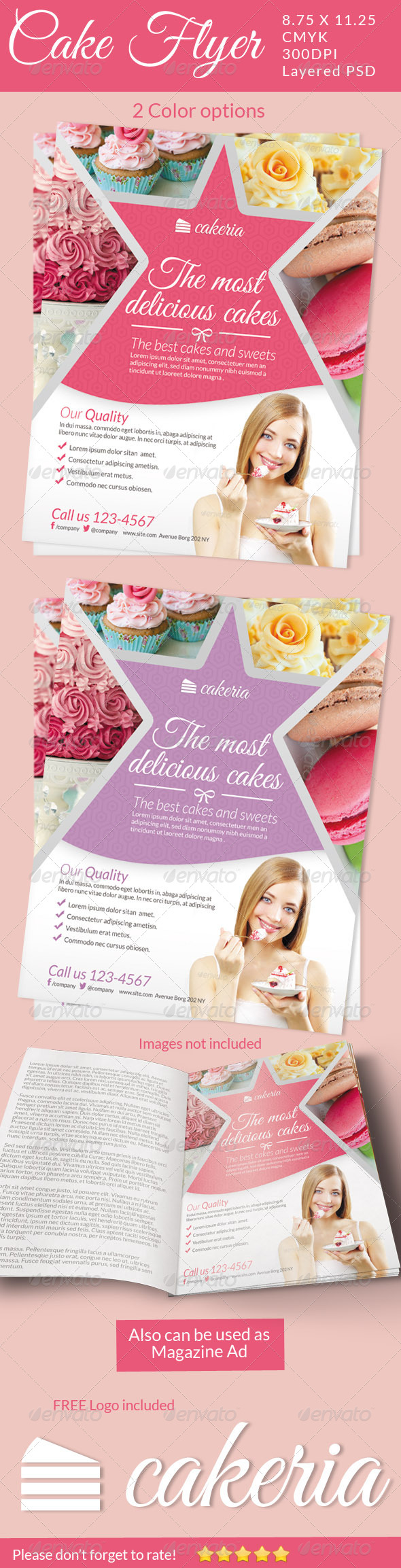 GraphicRiver Cake Flyer Magazine Ad 5129113