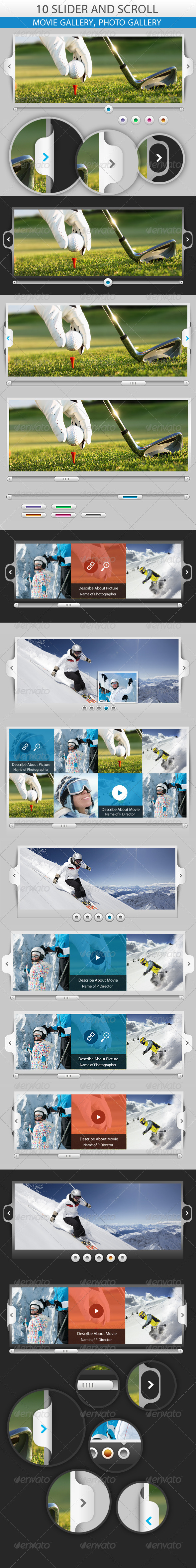 GraphicRiver Slider and Scroll 10 Creative 5116408
