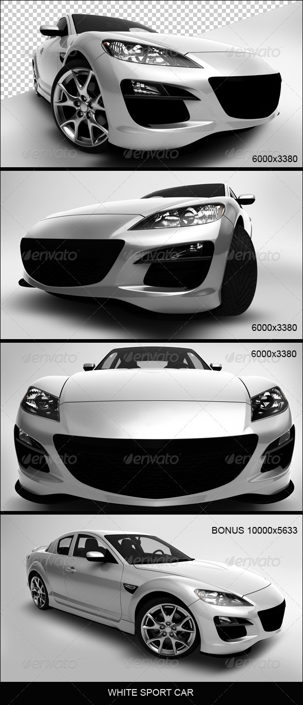 GraphicRiver White Sport Car 5131384