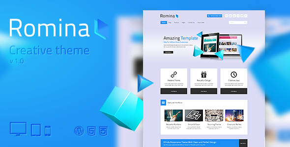 ThemeForest Romina Creative WordPress Theme 5085089