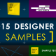 15 Designer Samples (Pack) - VideoHive Item for Sale