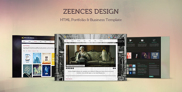 ThemeForest - Zeences - HTML Portfolio &amp; Business Template - RiP