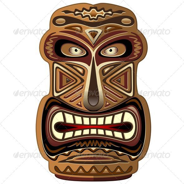 GraphicRiver Africa Ethnic Mask Totem 5132883