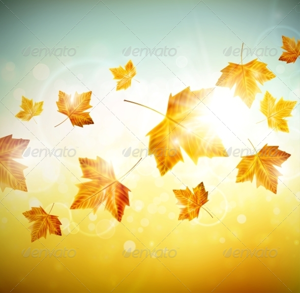 GraphicRiver Autumn Background with Leaves 5133471