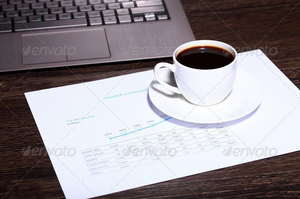 Coffee at business workplace - Stock Photo - Images
