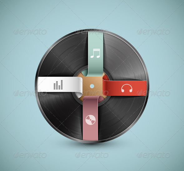 GraphicRiver Musical infographic 5134017