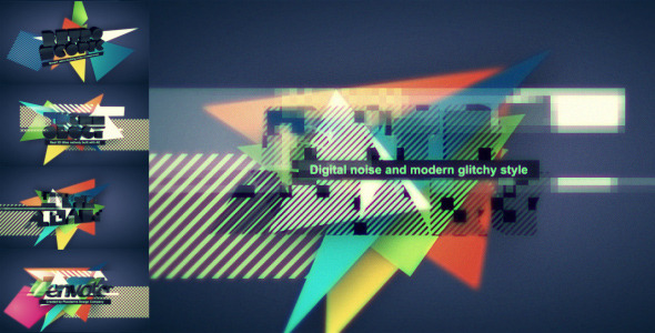 After Effects Project - VideoHive Digital Retro Title Logo opener 527807
