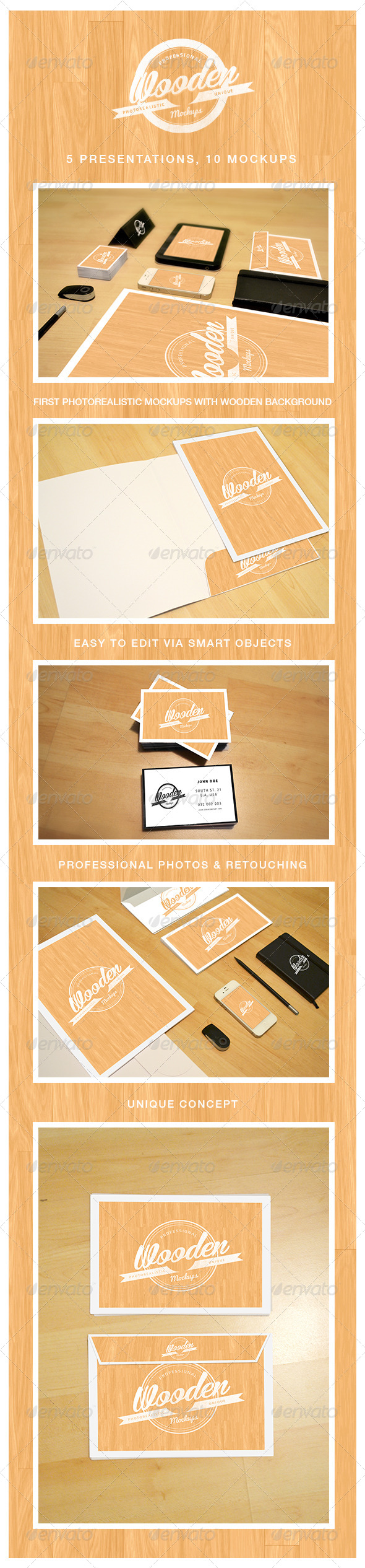 GraphicRiver Photorealistic Wooden Mockups Vol 1 5134882