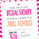 Laser Pink Wedding Bridal Shower Invitation - GraphicRiver Item for Sale