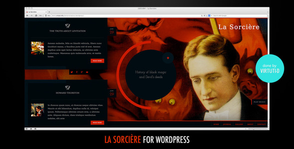 La Sorcière–Dark Wordpress Theme - WordPress