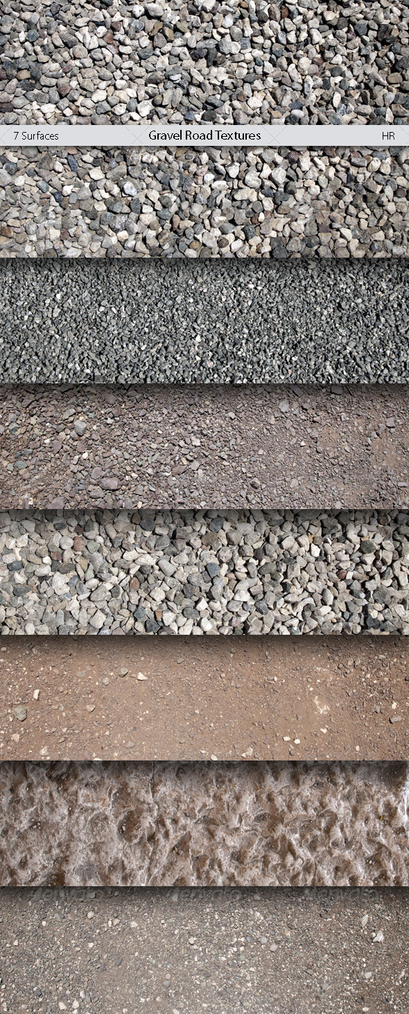 GraphicRiver Gravel Road Surfaces Textures 5135969