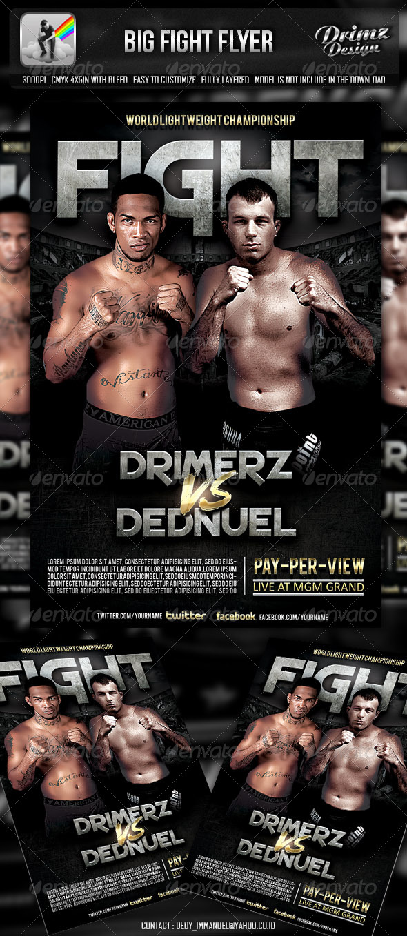 GraphicRiver Big Fight Flyer 5136760