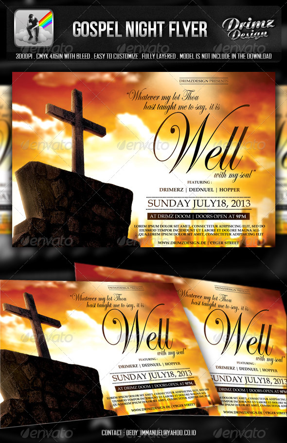 GraphicRiver Gospel Night Flyer 5136772
