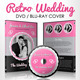 Retro Wedding DVD & Blu-ray Cover With Disc Label - GraphicRiver Item for Sale