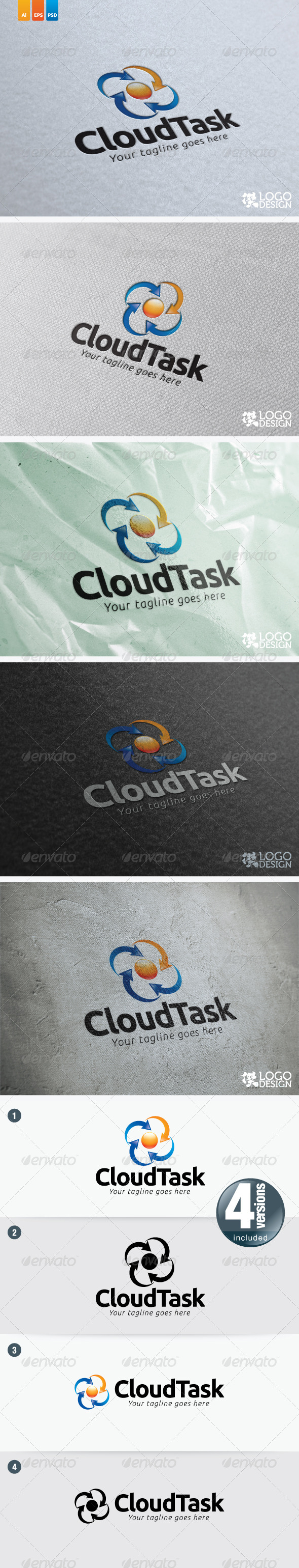 Cloud Task - Symbols Logo Templates