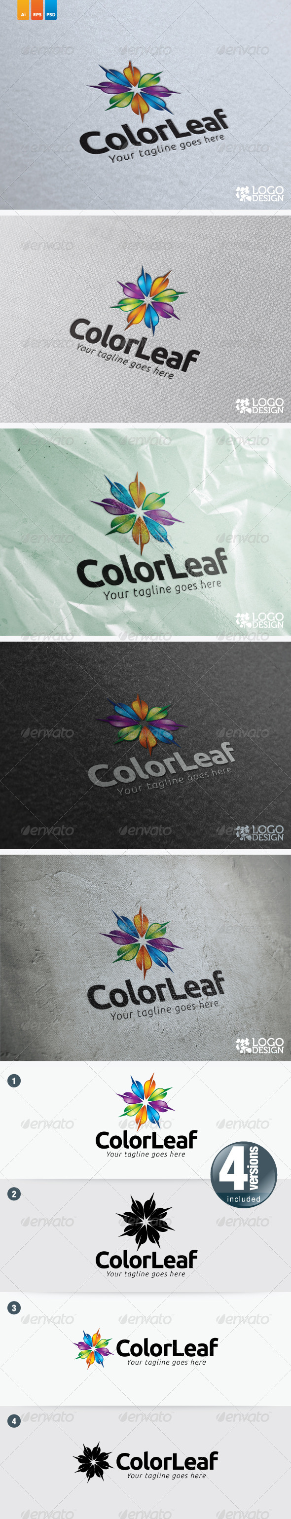 ColorLeaf - Nature Logo Templates