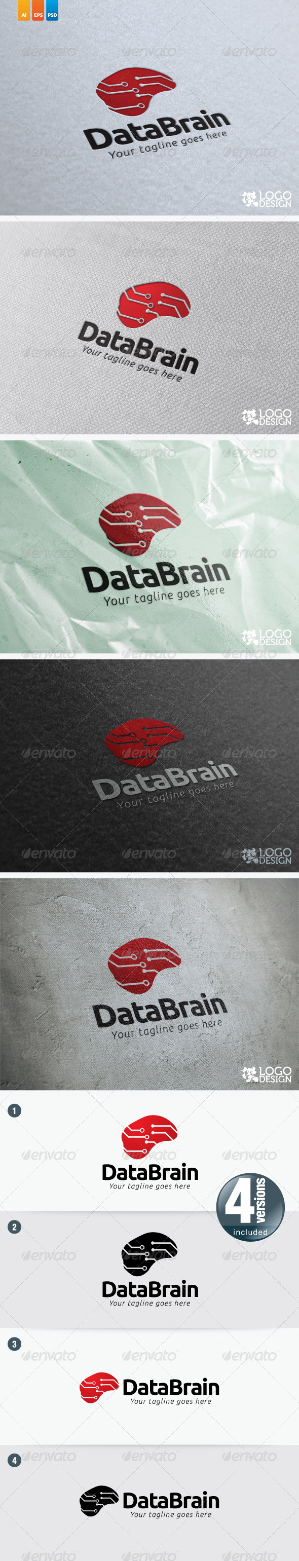 Data Brain - Humans Logo Templates