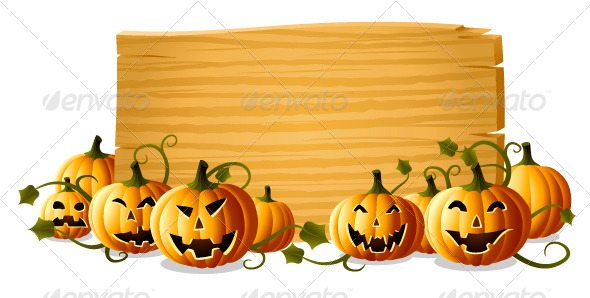 GraphicRiver Jack-O-Lantern with Sign 5138394