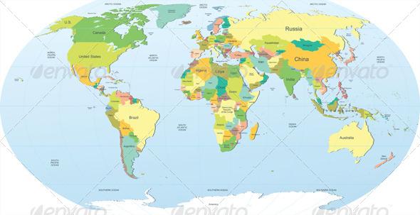 GraphicRiver Political World Map 5138967
