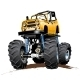 Cartoon Monster Truck One Click Repaint  - GraphicRiver Item for Sale