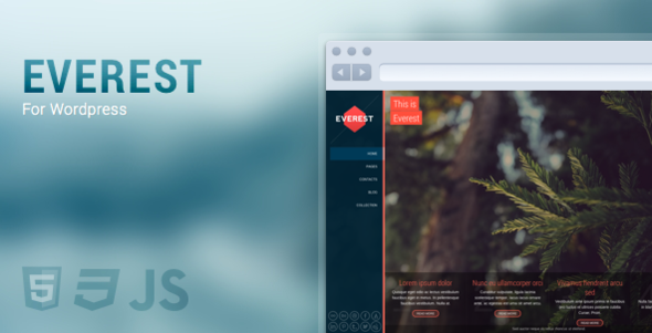 ThemeForest Everest Full Screen Responsive & Retina 5139115