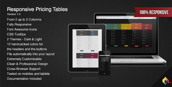 Responsive Pricing Tables - CodeCanyon Item for Sale