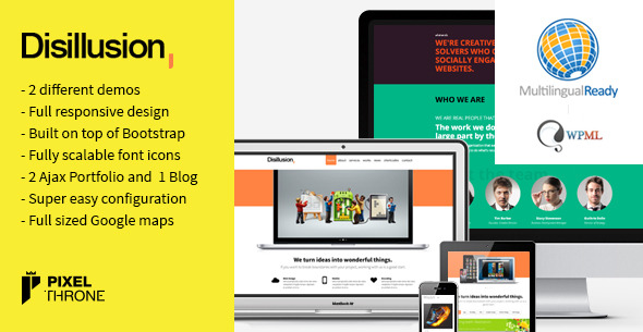 Disillusion > Responsive One Page WordPress Theme